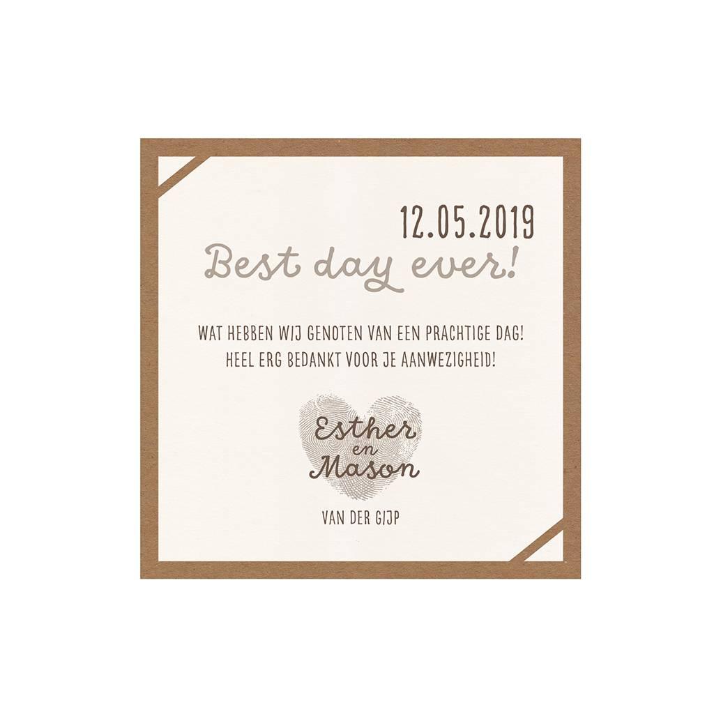 Belarto Bohemian Wedding Save the date bij trouwkaart 'Wij trouwen' met kraft-jasje (727507)