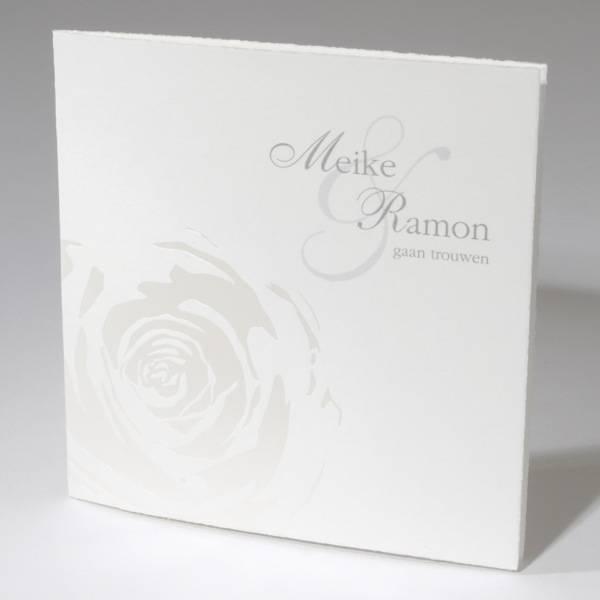 Familycards-Deel je Geluk Oudhollandse huwelijkskaart met parelmoer roos (591589)