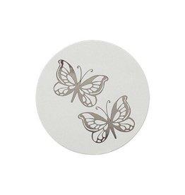 Buromac La Vie en Rose Sluitzegel met vlindertjes in zilverfolie