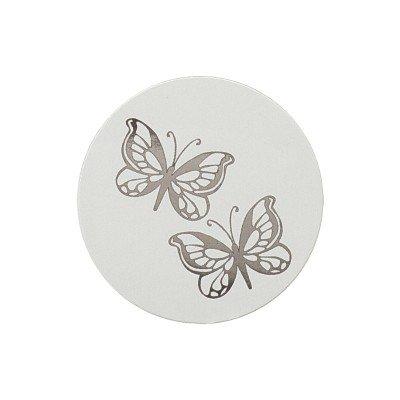 Buromac La Vie en Rose Sluitzegel met vlindertjes in zilverfolie (173005)