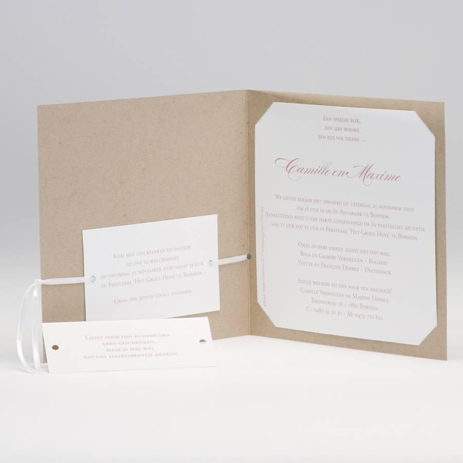 Buromac La Vie en Rose Eco trouwkaart met wit hart (106112)