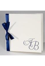 Buromac La Vie en Rose Oud-Hollandse trouwkaart met blauw lint (106103)