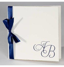 Buromac La Vie en Rose Oud-Hollandse trouwkaart met blauw lint