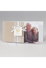 Buromac-Papillons Romantische jubileumkaart met kanten lint en foto (108303)