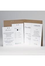 Buromac-Papillons Kraft huwelijksuitnodiging JA met fotostrip (108906)