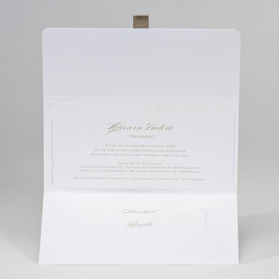 Buromac-Papillons Witte clutch met confetti in goudfolie Wij trouwen (108076)