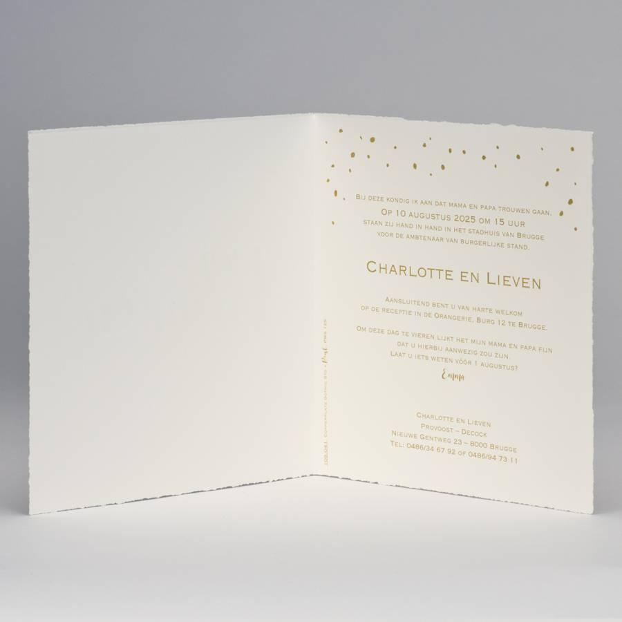 Buromac-Papillons Oud-Hollandse confettikaart Wij trouwen (108041)