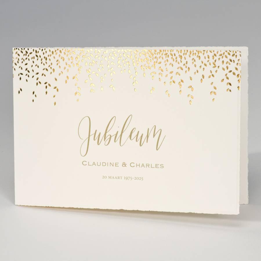 Buromac-Papillons Jubileumkaart met gouden blaadjes  op Oud-Hollands (108305)