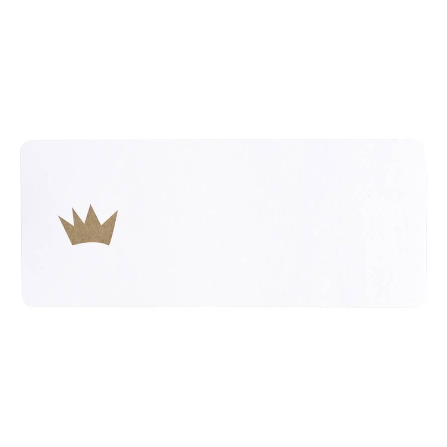 Buromac Pirouette Zelfklevende etiketten -  gouden kroon (576201)