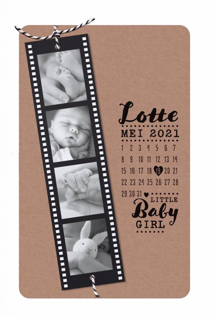 Belarto Hello World Geboortekaartje - Fotostrip  (718037)