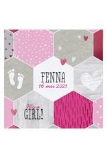 Belarto Hello World Geboortekaartje - It's a girl! (718012)