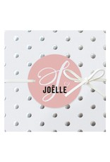 Belarto Hello World Geboortekaartje - Zilveren stippen - roze (718013M)