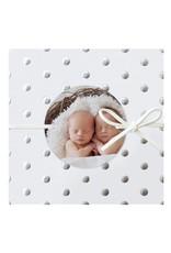 Belarto Hello World Geboortekaartje - Zilveren stippen - tweeling (718013TJ)