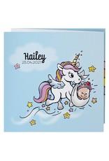 Belarto Hello World Geboortekaartje - Eenhoorn en prinses (718042)