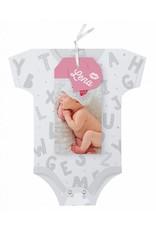 Belarto Hello World Geboortekaartje - Rompertje Roze (718045M)