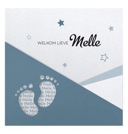 Belarto Hello World Geboortekaartje - Voetjes Blauw