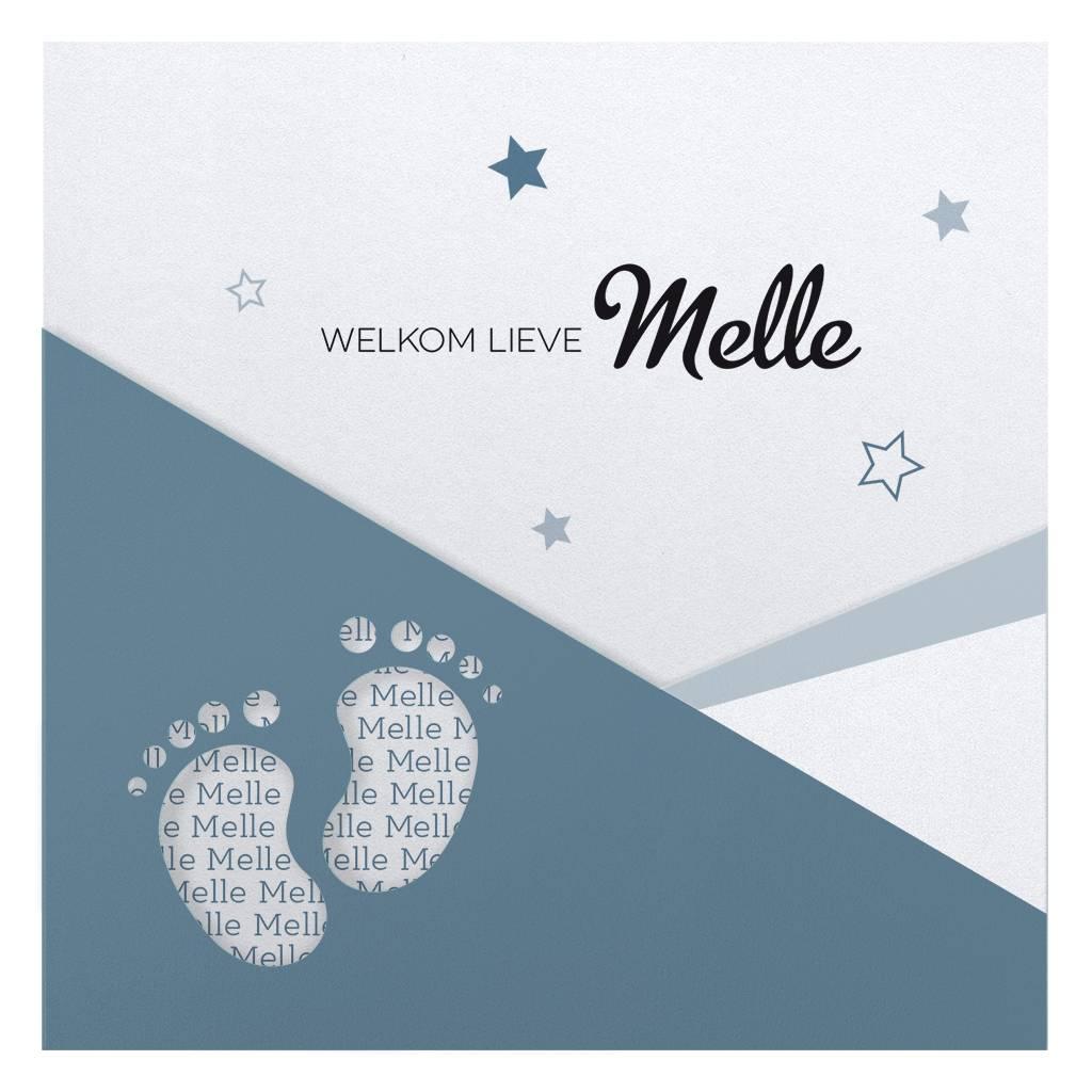 Belarto Hello World Geboortekaartje - Voetjes Blauw (718009)