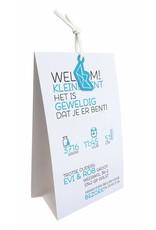 Belarto Hello World Geboortekaartje - Origami bootje blauw (718018)