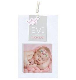 Belarto Hello World Geboortekaartje - Origami bootje roze