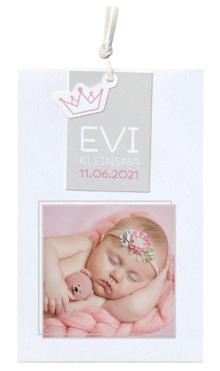 Belarto Hello World Geboortekaartje - Origami bootje roze (718018M) - Copy