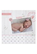 Belarto Hello World Geboortekaartje - Hartjes en hout (718033)