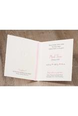 Belarto Hello World Geboortekaartje - Oud-Hollands met voetjes roze (718050)