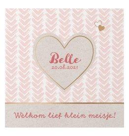Belarto Hello World Geboortekaartje - Gouden hart
