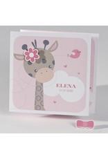 Buromac Baby Folly 2019 Geboortekaart - drieluik met girafje - roze (586040)