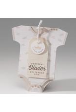 Belarto Baby Dreams & Happy Baby Geboortekaart in de vorm van een rompertje met kroontje (715901)