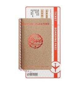 Belarto Bohemian Wedding Trouwkaart als ticketmapje inclusief boarding pass