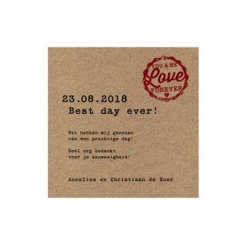 Belarto Yes We Do Save the date bij trouwkaart ticket (726521)