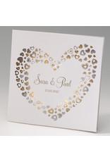 Belarto Celebrate Love Huwelijksaankondiging met gouden hartjes (725018)