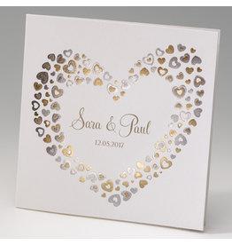 Belarto Celebrate Love Huwelijksaankondiging met gouden hartjes