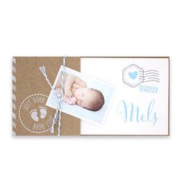 Familycards Klein Wonder Geboortekaartje met foto en ecolook omslagje
