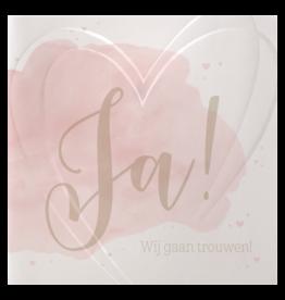 Belarto Celebrate Love Huwelijkskaart - Watercolor love