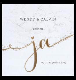 Belarto Celebrate Love Huwelijkskaart - Gouden JA