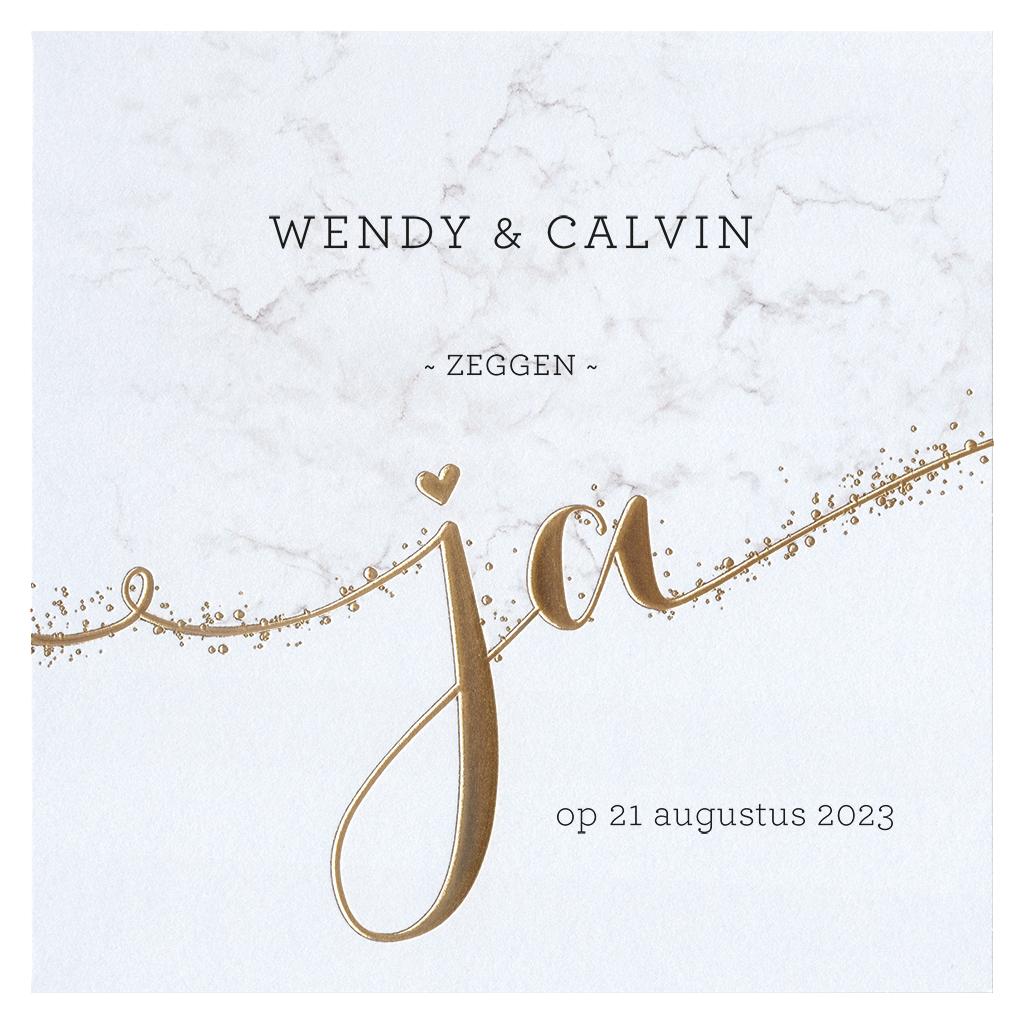 Belarto Celebrate Love Huwelijkskaart - Gouden JA (729212)