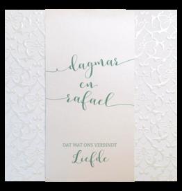 Belarto Celebrate Love Huwelijkskaart - Glanzend barokpatroon