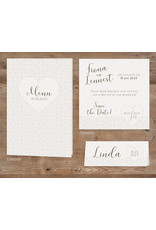 Belarto Celebrate Love Huwelijkskaart - Stijlvol hart en strik (729200)