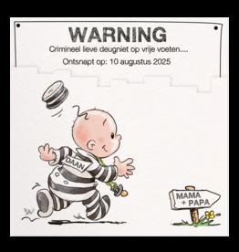 Belarto Geboorte 2020 Geboortekaartje criminele deugniet