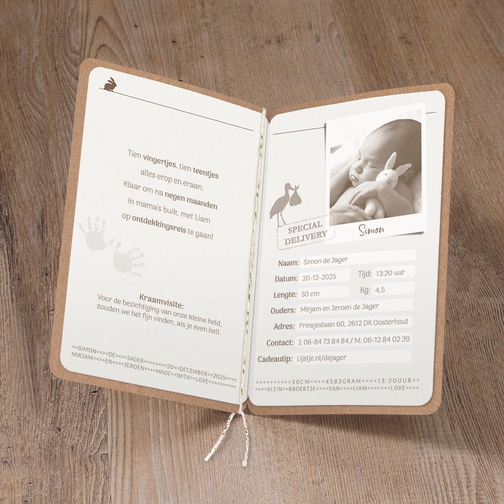 Belarto Geboorte 2020 Geboortekaartje Baby Paspoort (610040)