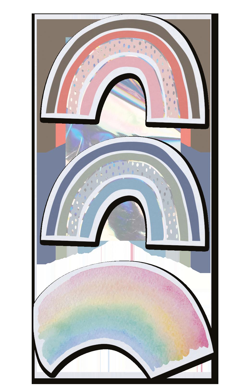 Belarto Geboorte 2020 Geboortekaartje - Trendy regenboog (610030-M)