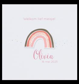 Belarto Geboorte 2020 Geboortekaartje - Trendy regenboog