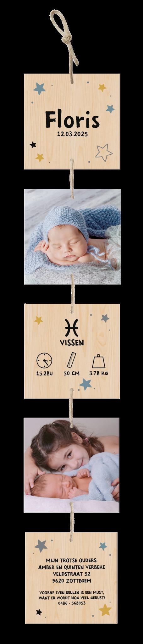 Belarto Geboorte 2020 Geboortekaartje - DIY verticale slinger (610028)