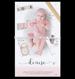 Belarto Geboorte 2020 Geboortekaartje - DIY met labeltjes, roze