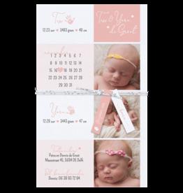 Belarto Geboorte 2020 Geboortekaartje - DIY  met labeltjes - tweeling