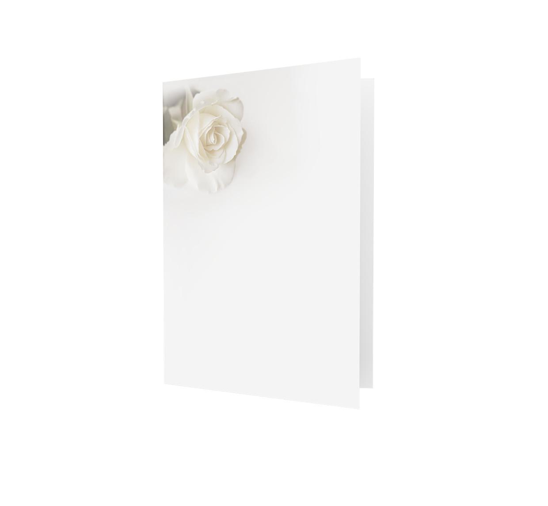Familycards - Nova Memoria Rouwkaart - Witte roos (893062)
