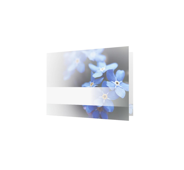 Familycards - Nova Memoria Rouwkaart - Vergeet-me-nietjes  (893072)