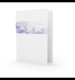 Familycards - Nova Memoria Rouwkaart - Blauwe hortensia