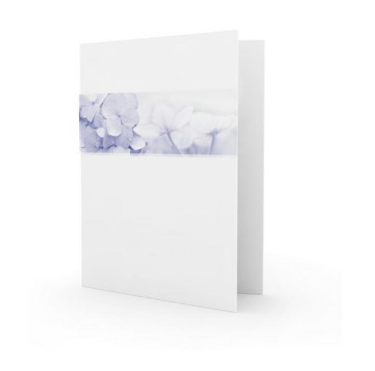 Familycards - Nova Memoria Rouwkaart - Blauwe hortensia (892652B)